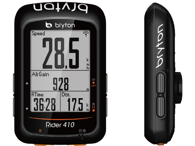 Bryton Rider 410 H HRM Fahrradcomputer schwarz